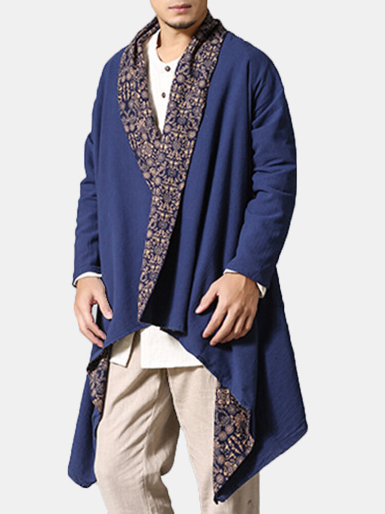 Best Men's Double-sided Wearable Trench Coat Cotton Linen Shirt Cardgans Reversible Casual Ethnic Clothes You Can Buy