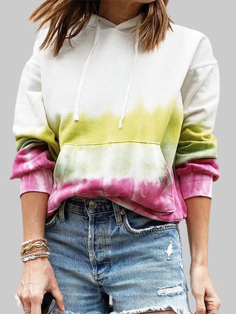 Best Tie-dye Drawstring Plus Size Casual Hoodie You Can Buy