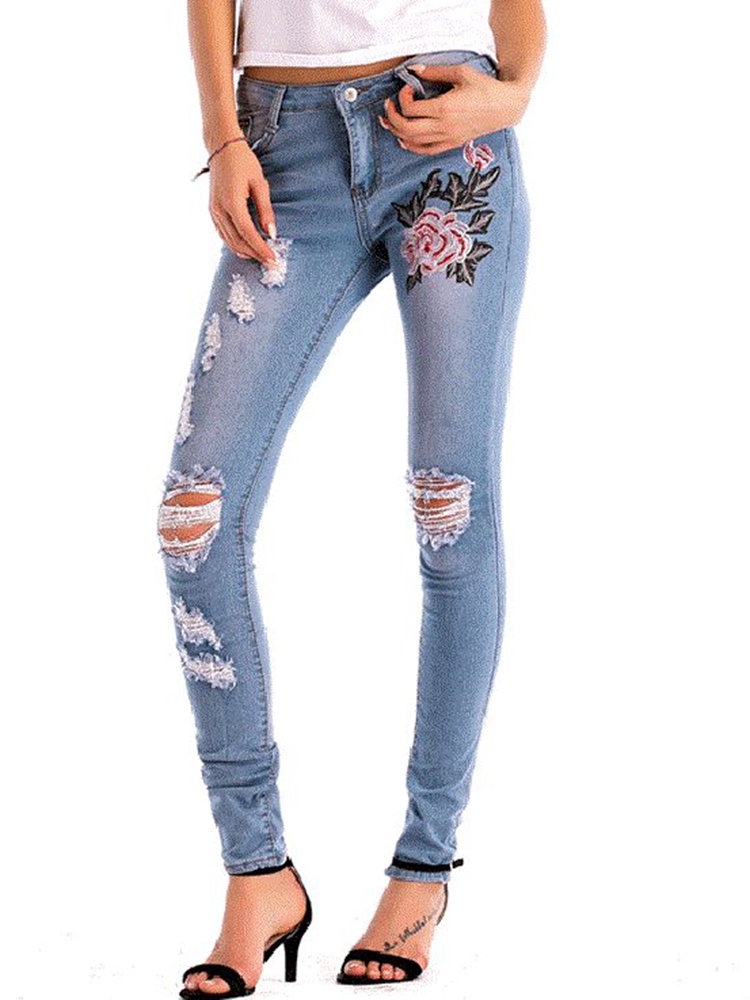 Best Stretch High Waist Skinny Embroidery Jeans You Can Buy
