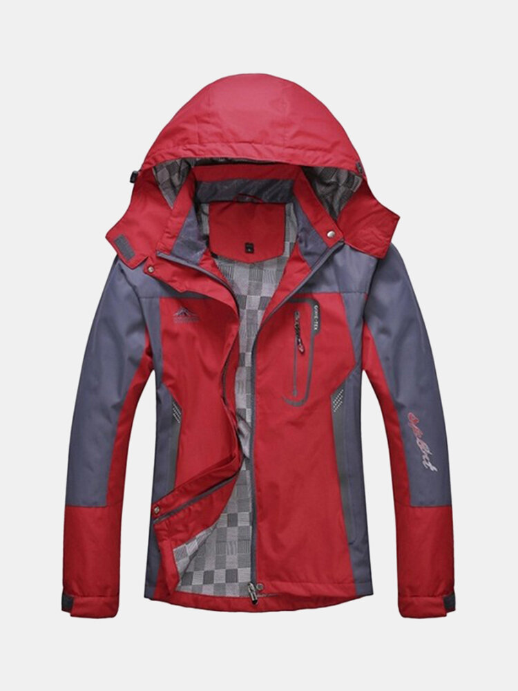 Best Mens Outdoor Water-repellent Windproof Quick Dry Breathable Hooded Climbing Sport Jacket You Can Buy