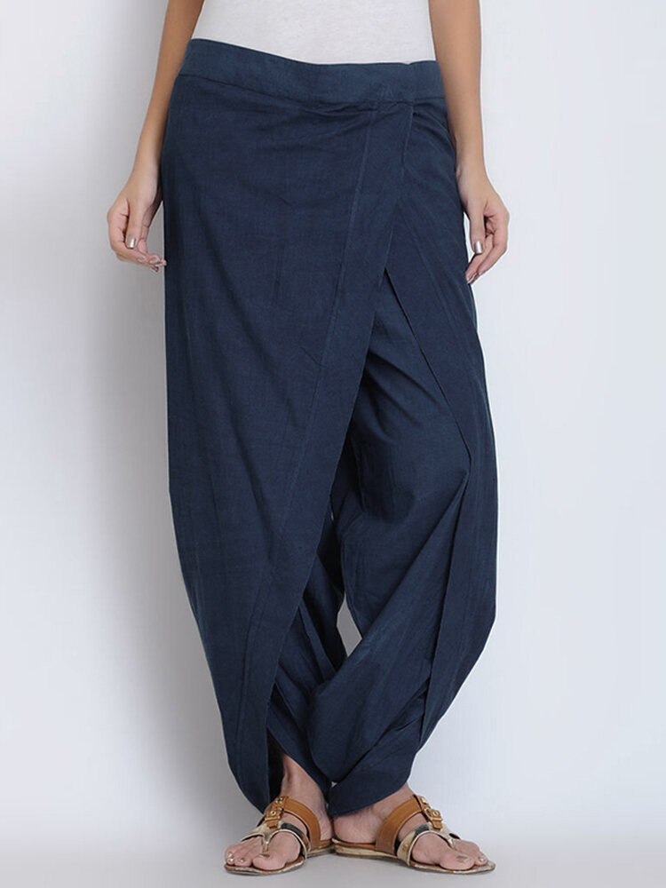 Best Casual Patchwork Irregular Harem Plus Size Pants You Can Buy