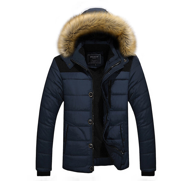 Best Winter Casual Outdoor Thicken Warm Plus Size Furry Hooded Jacket Coat for Men You Can Buy