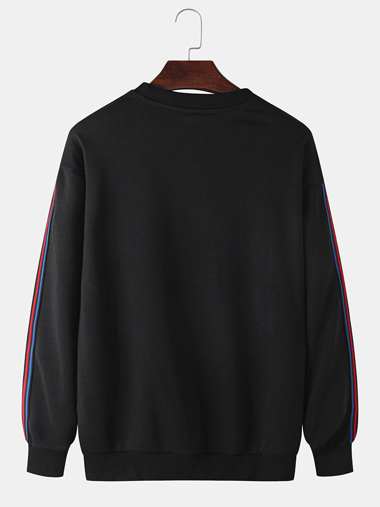 Best Mens Cotton Side Webbing Relaxed Fit Crew Neck Sweatshirts You Can Buy