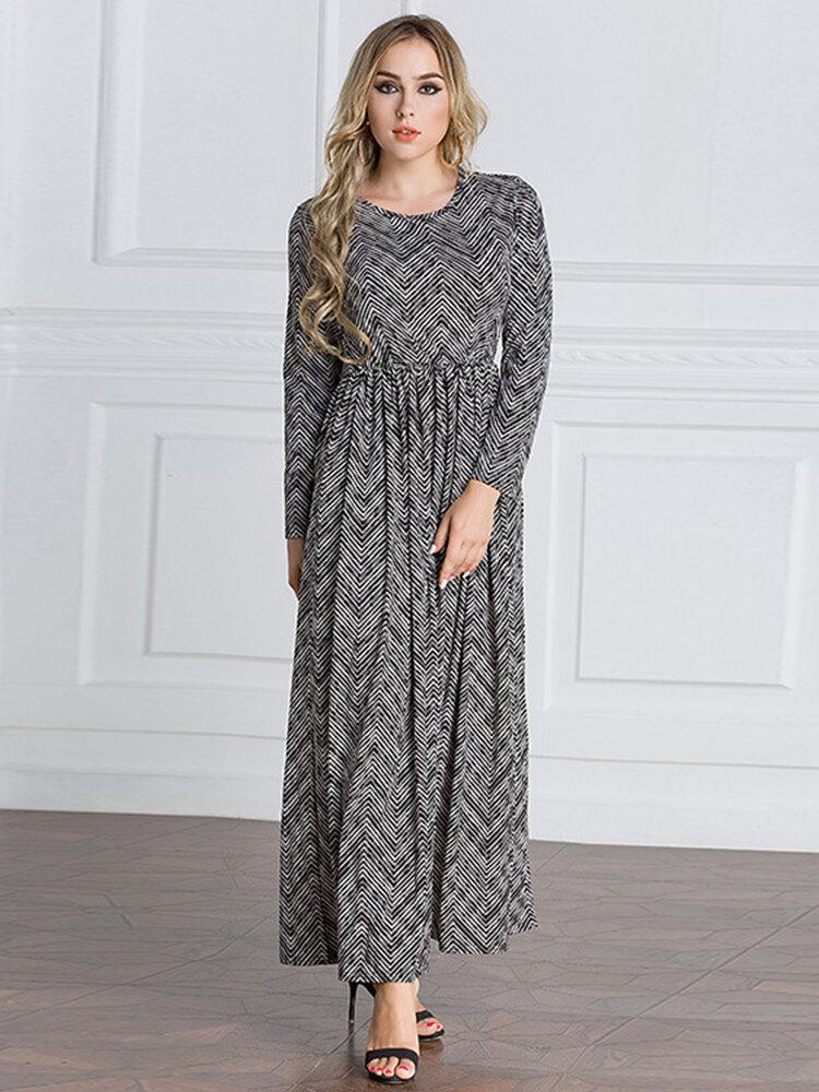 Best Vintage Women Muslim Print Maxi Dresses You Can Buy