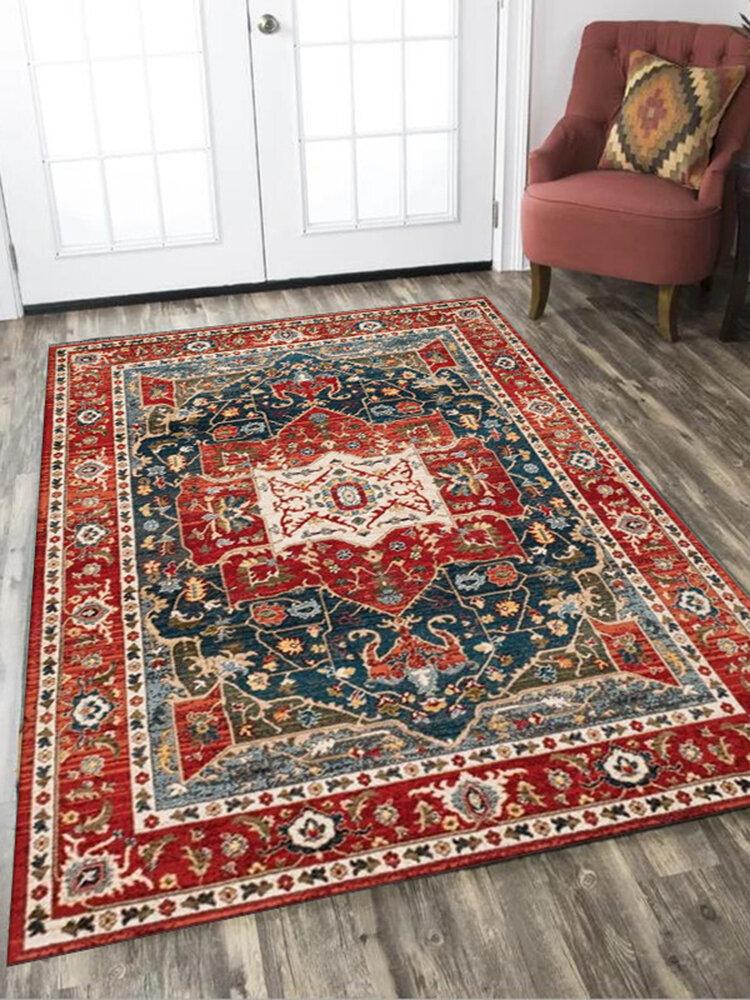 tapis marocain vintage salon chambre style persan decoration grande surface tapis table basse tapis de sol antiderapant