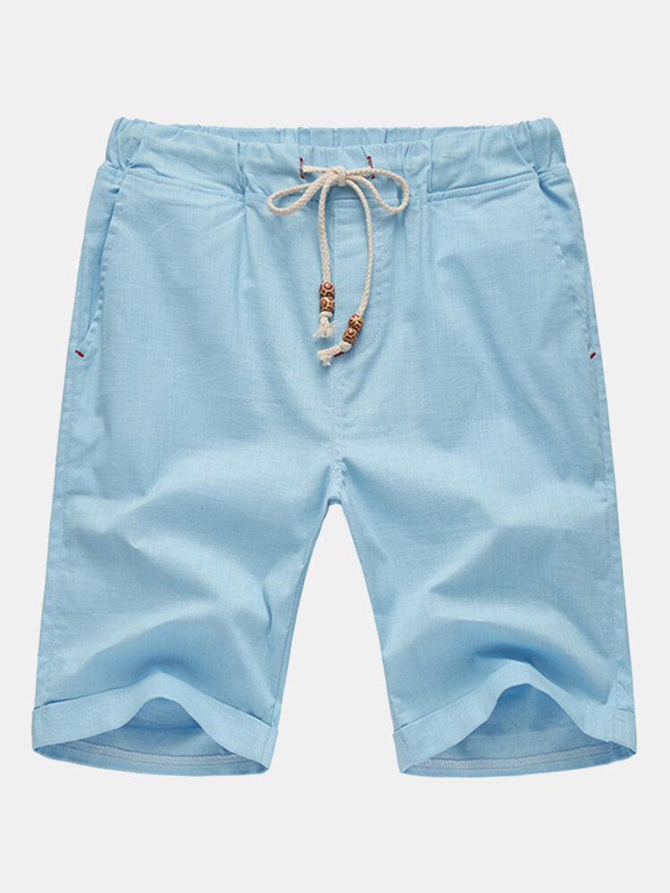 Best Mens Spring Summer Multicolor Drawstring Solid Color Cotton Blend Casual Sports Shorts You Can Buy