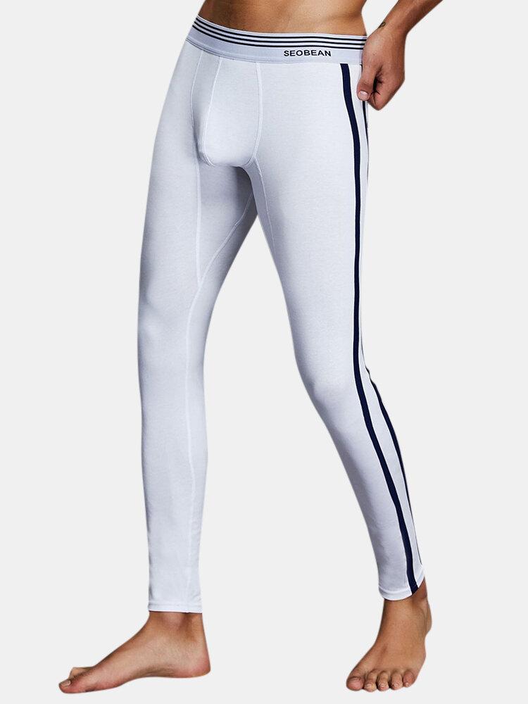 Best Men's Autumn and Winter Thermal Underwear Pants Cotton Sleepwear Long John You Can Buy