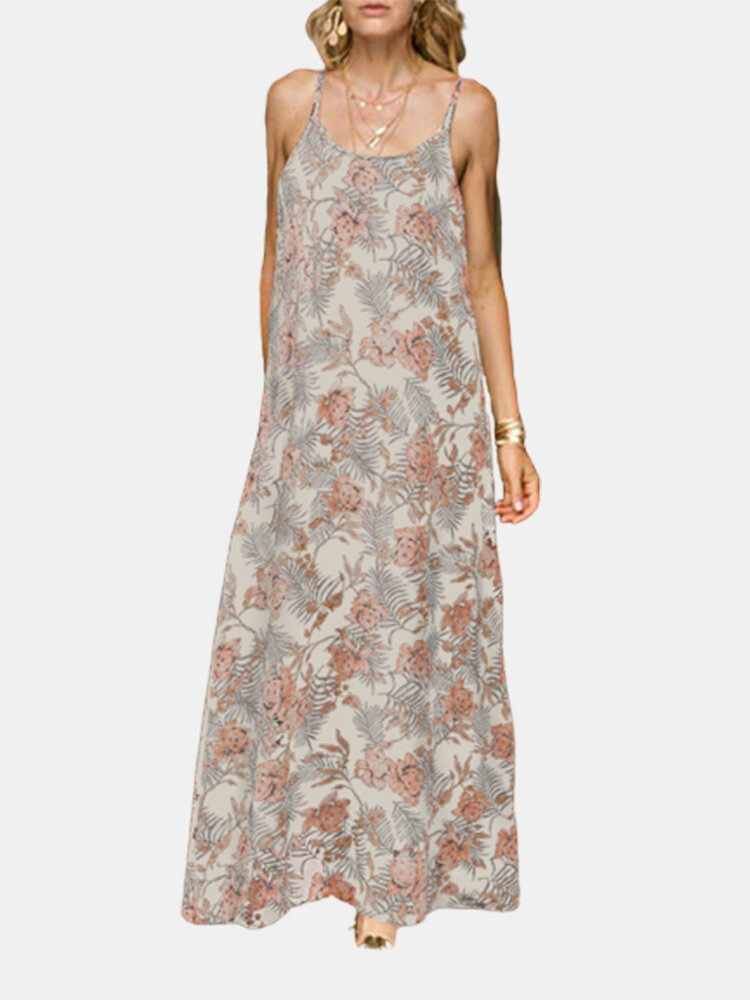 Best Floral Print Straps Plus Size Dress for Women You Can Buy