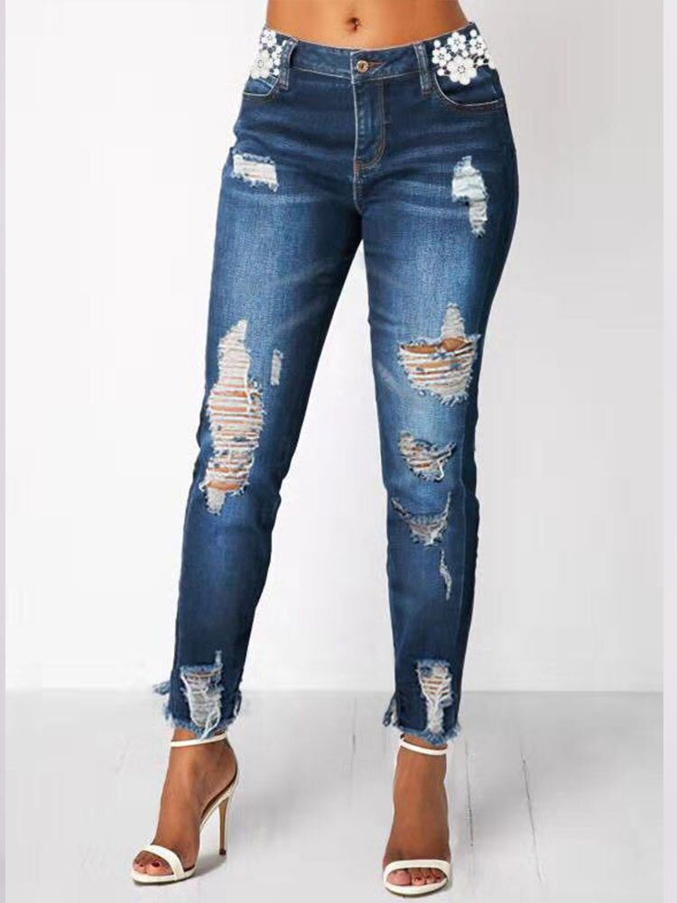 Best Casual Ripped Zipper Plus Size Pants for Women You Can Buy