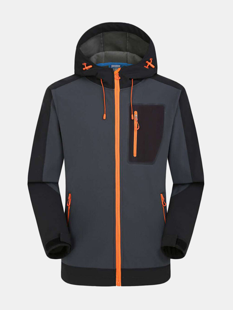 Best Mens Outdoor Thick Soft Shell Warm Water-repellent Windproof Slim Hooded Sport Jacket You Can Buy
