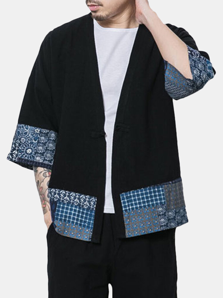 Best Casual Loose Printing Rerto Linen Coats For Men You Can Buy