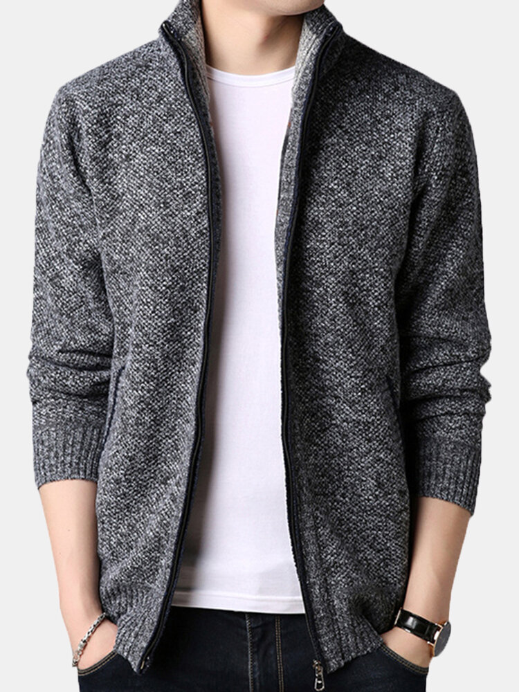 Best Mens Winter Casual Comfy Breathable Fleece Thicken Zipper Jacket You Can Buy