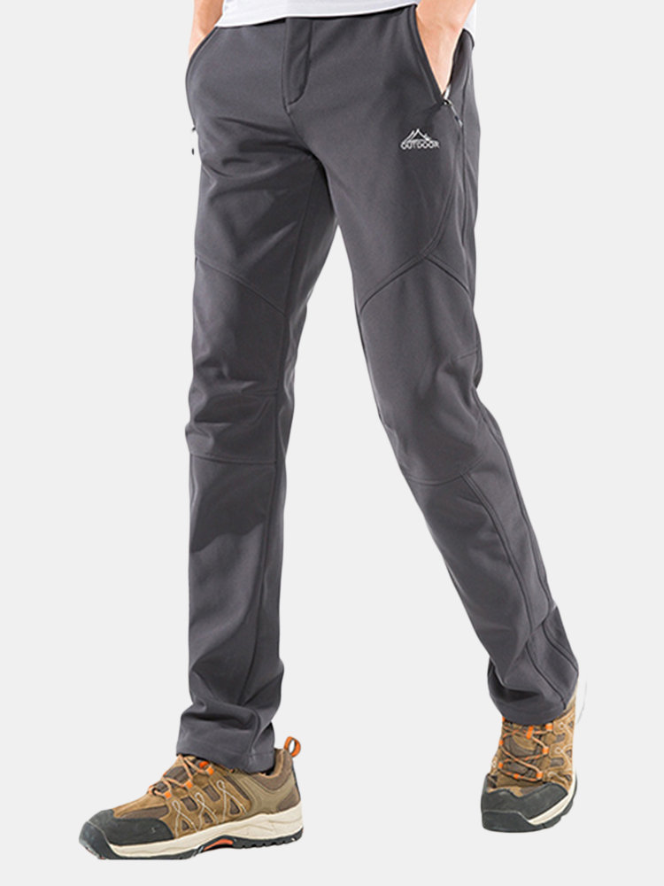 Best Mens Outdoor Sport Pants Antifouling Soft Shell Warm Fleece Lining Water-repellen Quick-Dry Trousers You Can Buy