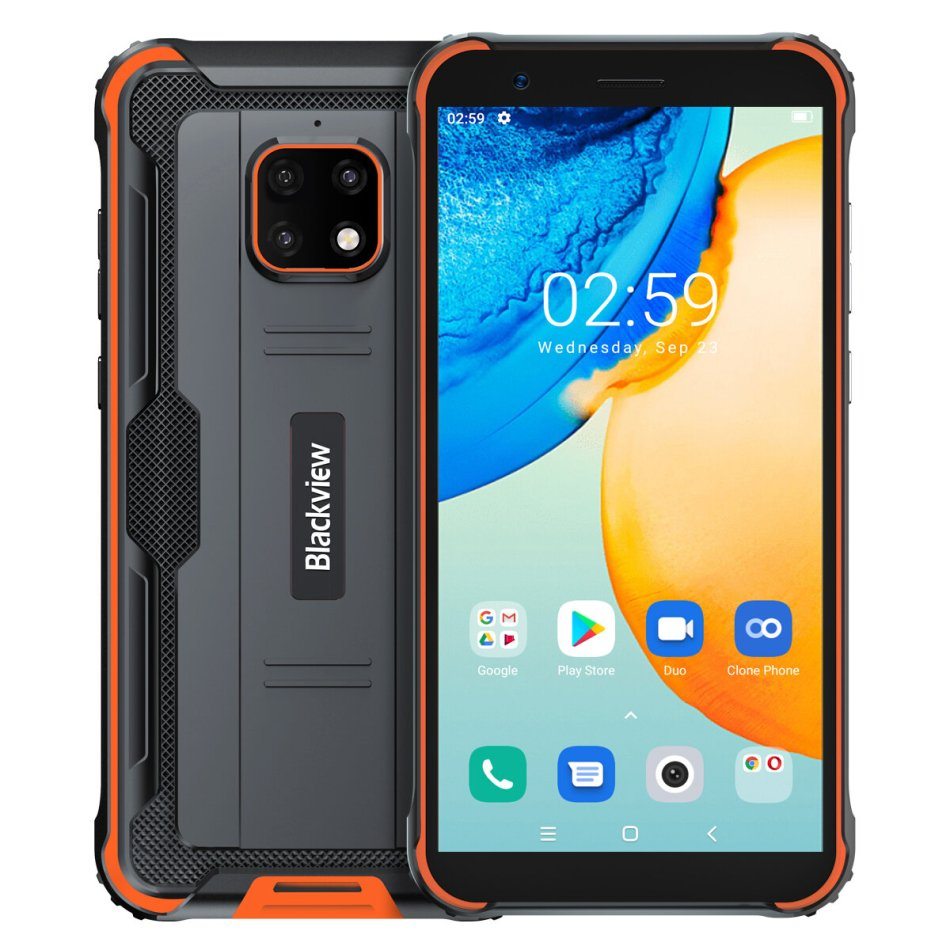 Blackview BV4900 Pro Global Version IP68&IP69k Waterproof 5.7 inch NFC Android 10 5580mAh 4GB 64GB Helio P22 Octa Core 4G Rugged Smartphone COD