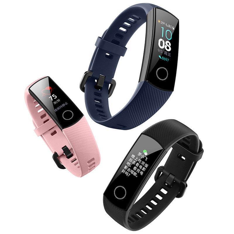 Huawei Honor Band 4 0.95 AMOLED 2.5D Swim Posture Detect Heart Rate Sleep Snap Monitor Smart Watch
