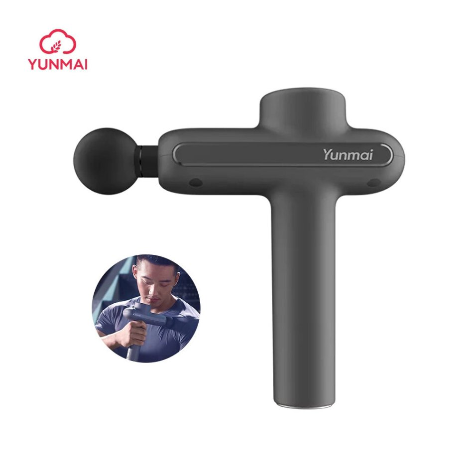 YUNMAI Electric Fascia Massager Pro Basic 3200Rpm 3 Gears Muscle Soothing Pain Relief Device W/ 4 Heads From