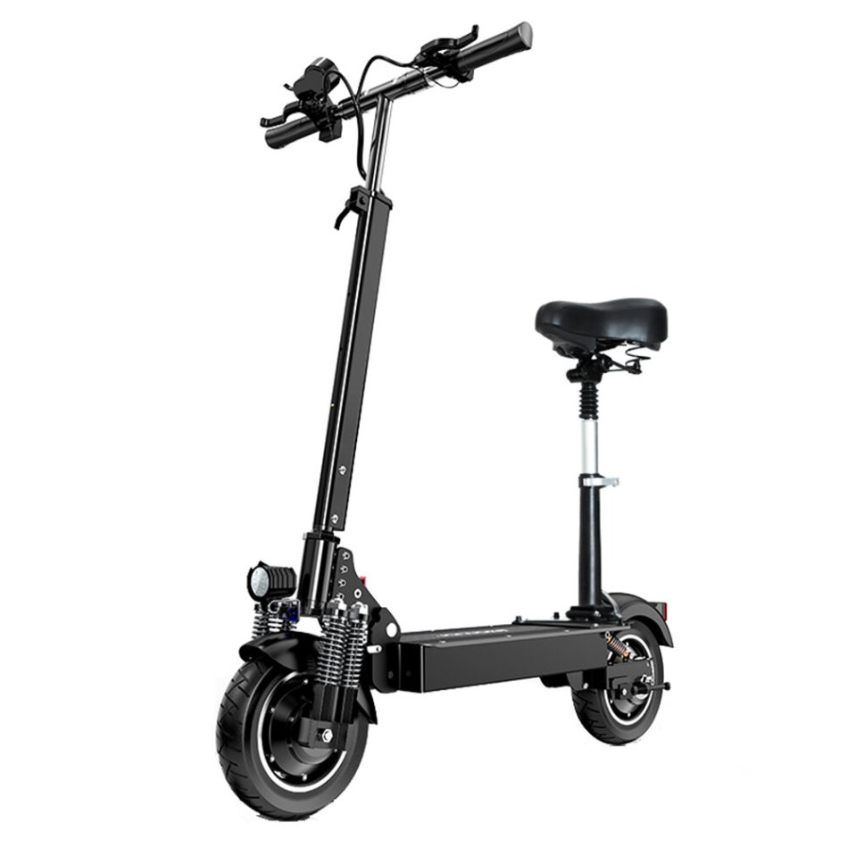 [EU DIRECT] T10 23Ah 52V 1000W*2 Folding Moped Electric Scooter 10inch 70Km/h Top Speed 80km Mileage Range Max Load 200kg