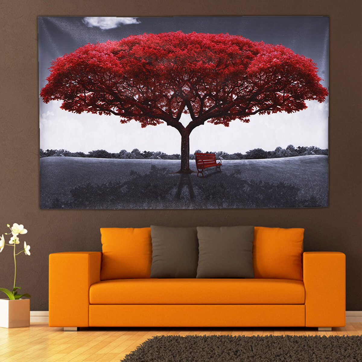 large red tree canvas modern home wall decor art paintings ... on Wall Decoration Ideas At Home  id=19180