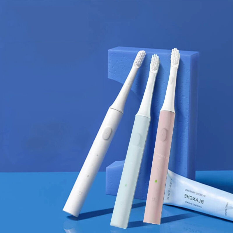 [Newest Version] Original Xiaomi Mijia T100 Mi Smart Electric Toothbrush 46g 2 Speed Xiaomi Sonic Toothbrush Whitening Oral Care