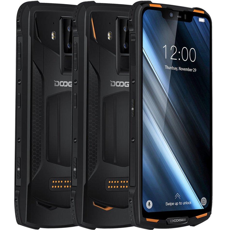 DOOGEE S90C Global Bands IP68 Waterproof 6.18 inch FHD+ NFC 5050mAh 16MP+8MP AI Dual Rear Cameras 4GB 64GB Helio P70 Octa Core 4G Smartphone