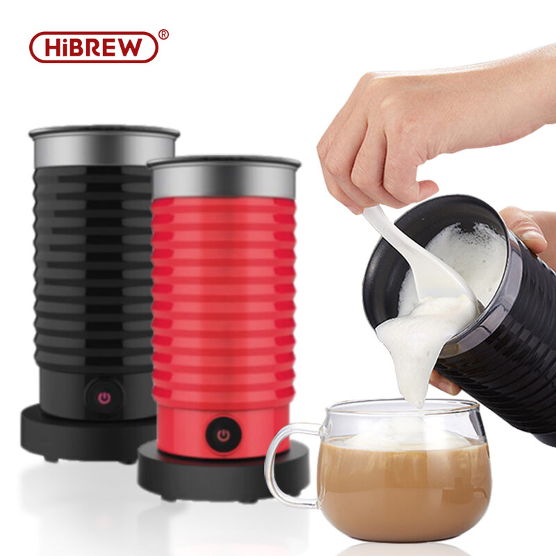 HiBREW 300ml Automatic Electric Lightweight Milk Frother Cappuccino Maker 220-240V 400W Food Grade Material Detachable Base Fast Frothing