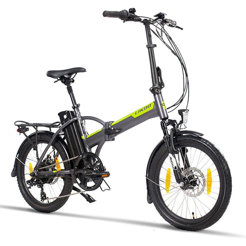 [EU Direct] LIKOO FD20 PLUS 13Ah 48V 250W 20x1.95in Folding Moped Electric Bicycle 25km/h Top Speed 100km Mileage City Mountain Electric Bike