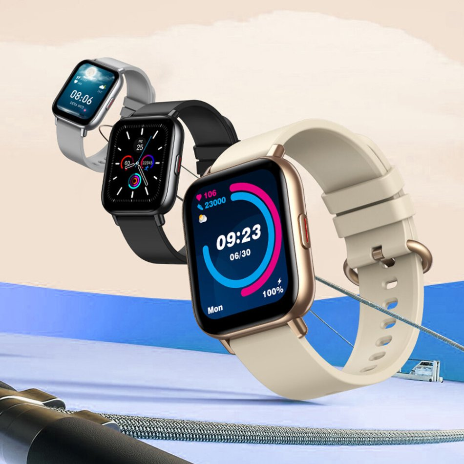 [24 Goal-Based Exercises] Zeblaze GTS Pro 1.65inch HD Touch Screen BT5.0 7x24h Heart Rate Monitor Spo2 Level Measurement Weather Forecast Custom Dial IP67 Waterproof Smart Watch