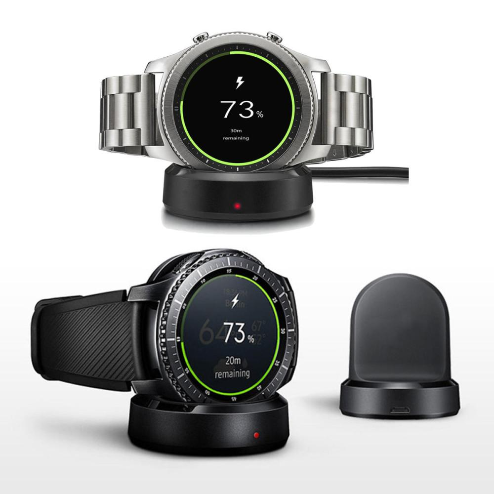 New QI Wireless Charging Dock Cradle Charger For Samsung Gear S3 Classic / Frontier iWatch Series 3