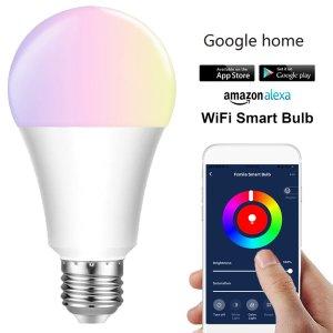 Στα 7€ από Αγγλία κάτω από 22€ χωρίς πρόβλημα δασμών | E27 E26 B22 RGBW Smart LED Light Bulb 7W WiFi IOS Android Amazon Alexa Google Lamp AC85-265V