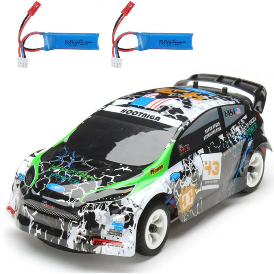 Wltoys K989 with 2 Batteries 1/28 2.4G 4WD Brushed RC Car Alloy Chassis Vehicles RTR Model