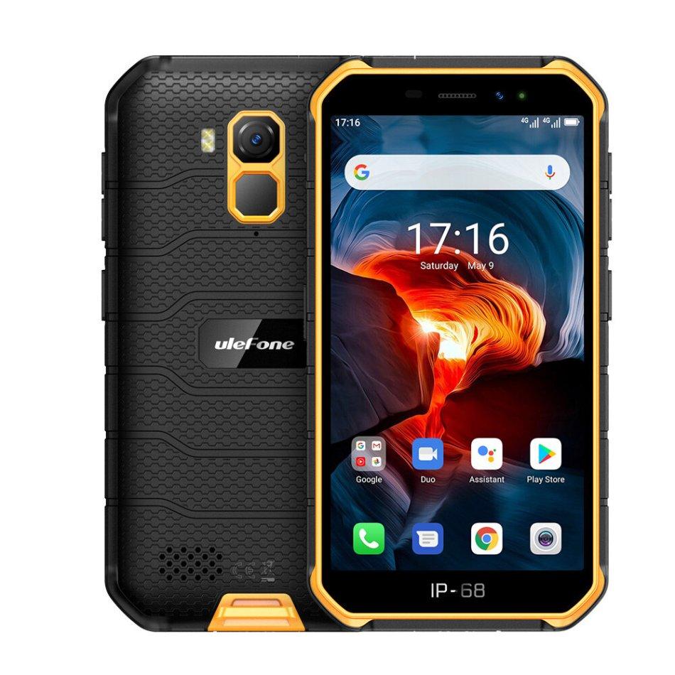 Ulefone Armor X7 Pro 5.0 inch NFC IP68 IP69K Waterproof Android 10 4GB RAM 32GB ROM MT6761 Quad Core 4G Smartphone