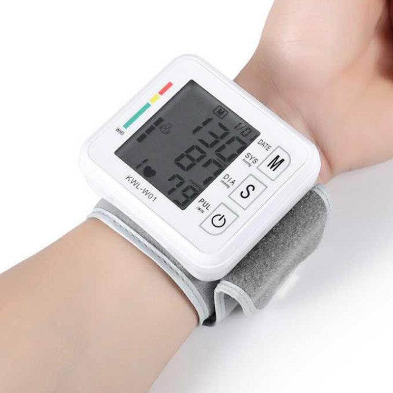 Boxym Wrist Blood Pressure Monitor Automatic LCD Blood Pressure Measurement Electronic Sphygmomanometer Tonometer Health Household Heart Rate Equipment