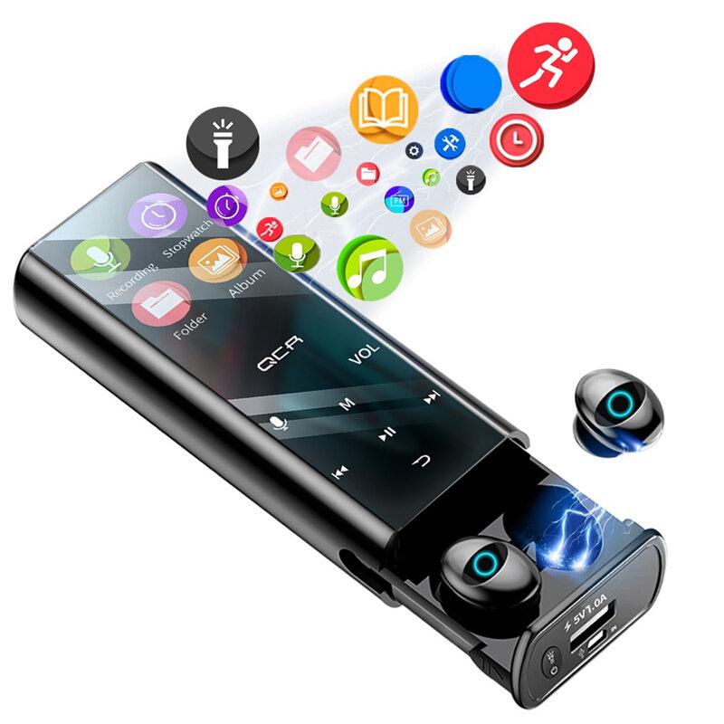 QCR Q1 Pro TWS Wireless bluetooth Earphone MP3 Player Earbuds 6000mAh Power Bank 4inch LED Display Headphone