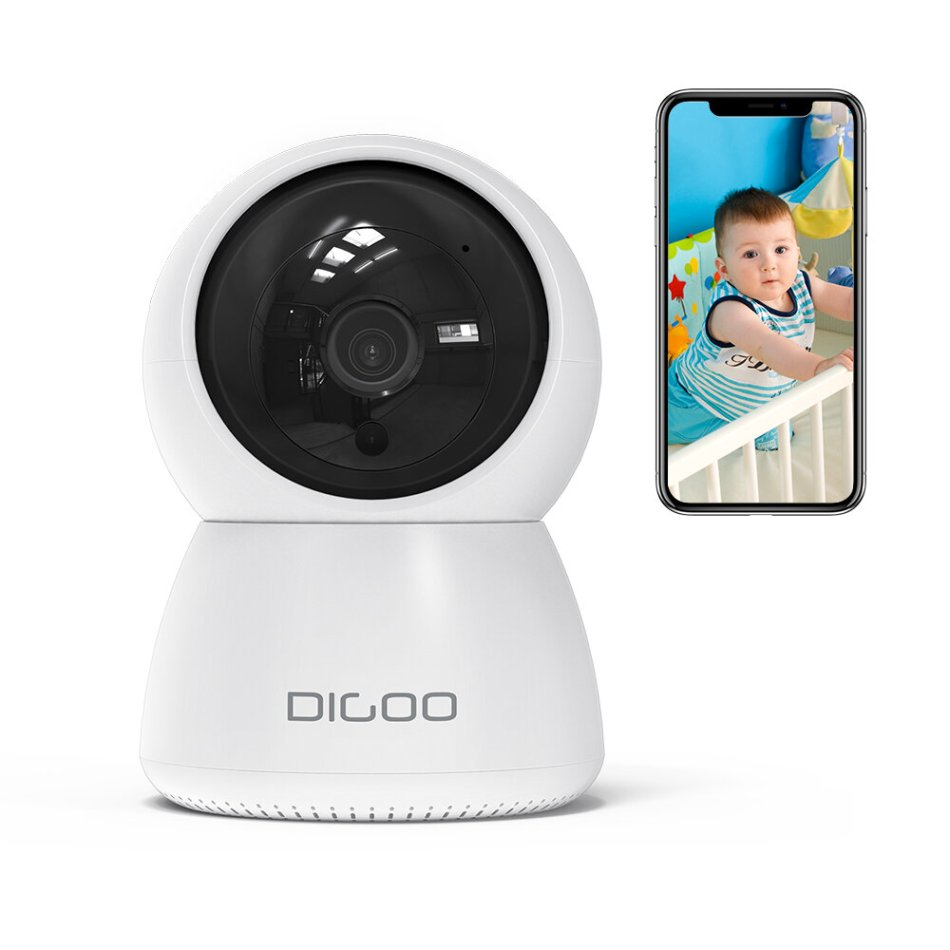 DIGOO DG-ZXC24 1080P Smart IP Camera 2 Megapixel 355° PTZ Night Vision Movement Detection Baby Home Security Monitor