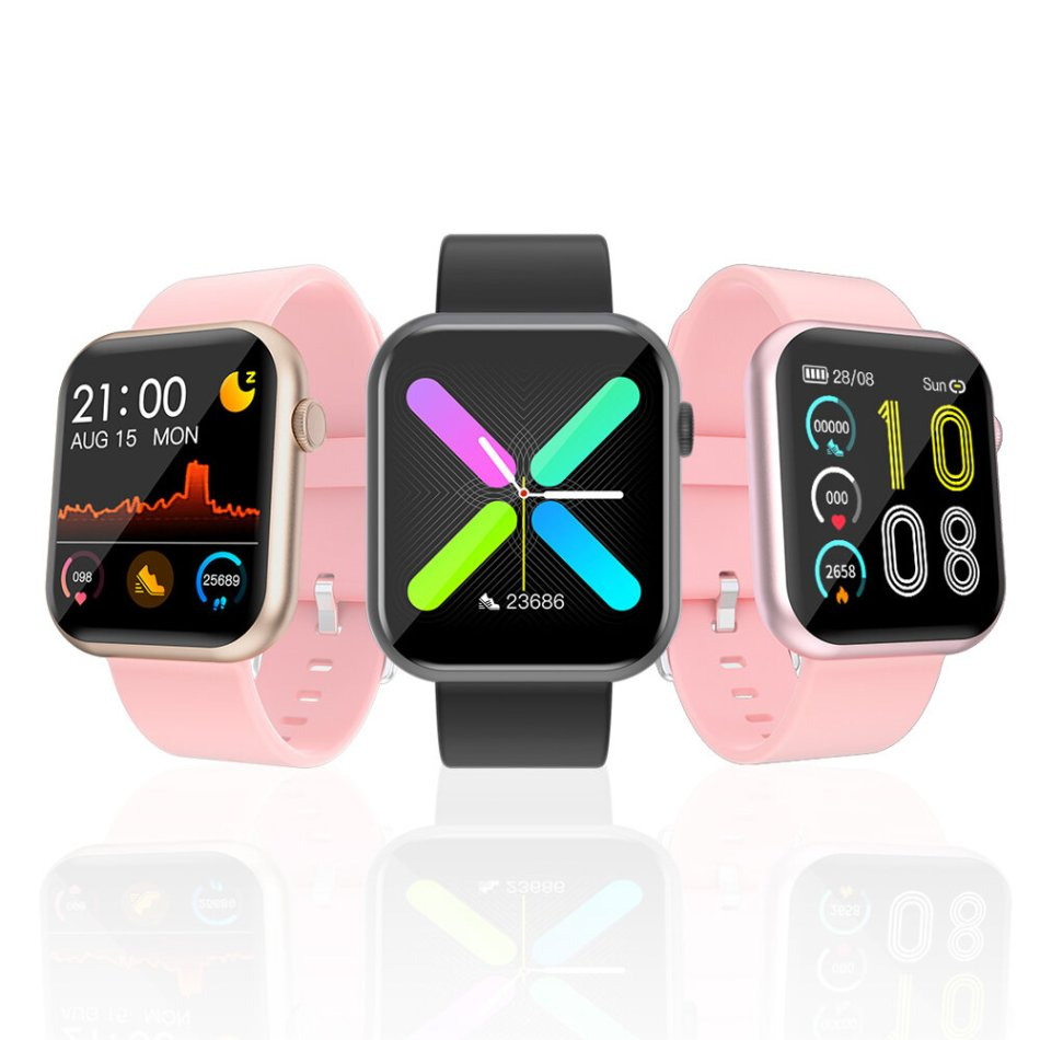 [Game Calculator Function]Newwear R3L Full Touch Screen Heart Rate Blood Pressure Oxygen Monitor Multi-language Rich Dial Music Control Smart Watch
