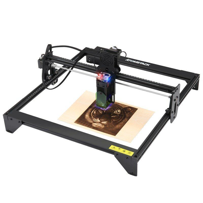 New ATOMSTACK A5 20W Laser Engraving Machine CNC Router Desktop DIY Laser Engraver New Eye Protection Design Support For Windows Banggood World Premiere