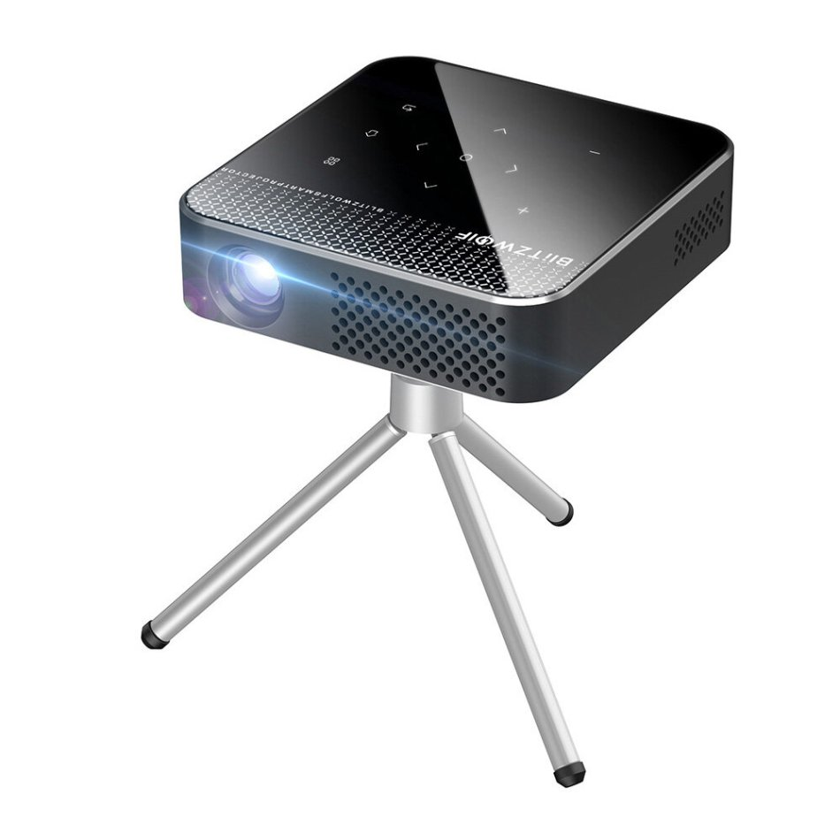 Blitzwolf® BW-VT1 DLP Mini WIFI Projector with Tripod Android 9.0 2+16GB Battery Capacity Wirelees Phone Mirroring Support 1080P Resolution ±40° Keystone Correction Smart Home Theater Projector With Remote