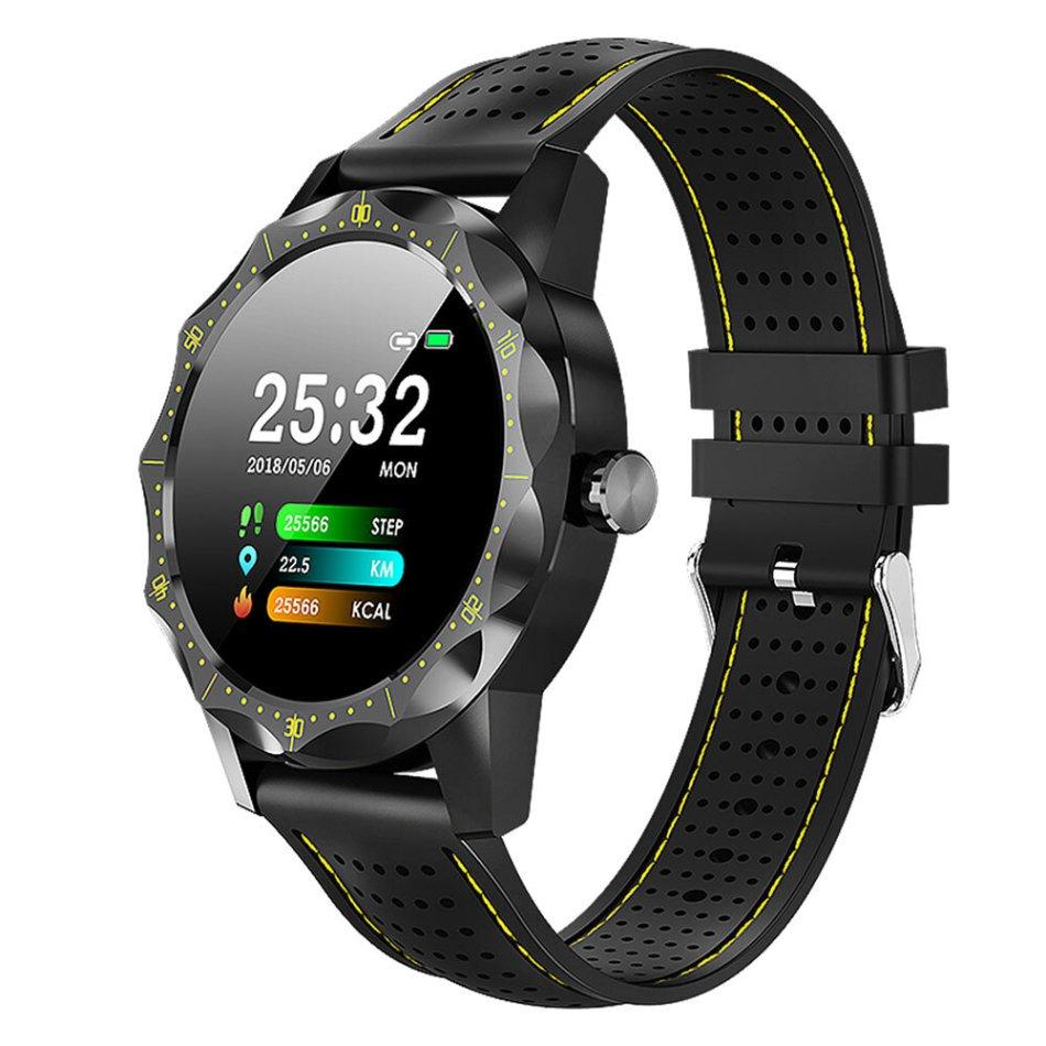 Bakeey SKY1 IP68 Waterproof Heart Rate Blood Pressure Oxygen Monitor Alarm Clock Smart Watch