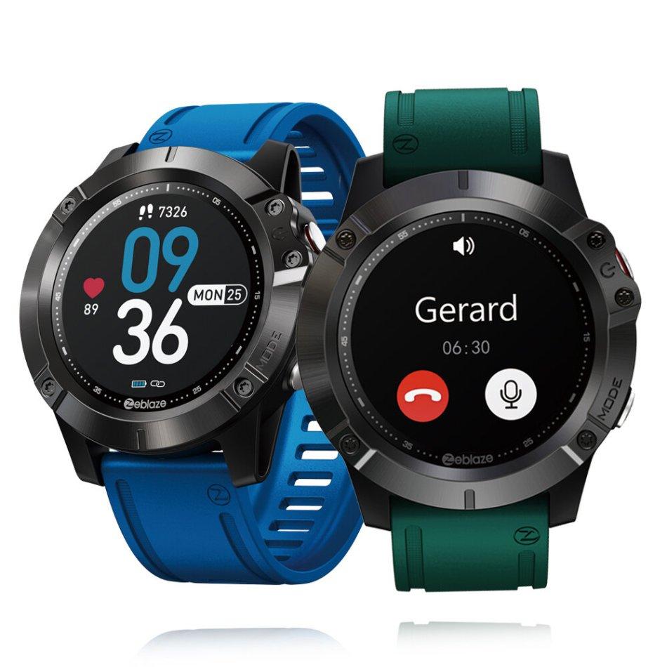 [bluetooth Call]Zeblaze VIBE 6 Wireless Music Player 7/24 Heart Rate Blood Pressure Monitor 10 Sport Modes 25 Days Standby BT5.0 Smart Watch