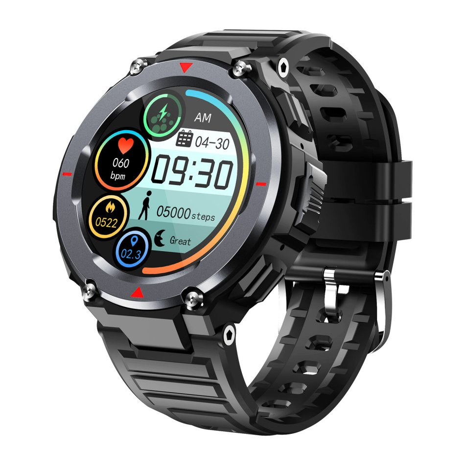 [bluetooth Call] Bakeey S25 24h Heart Rate Monitor Music Playback Multi-sport Modes Countdown BT5.0 Smart Watch COD