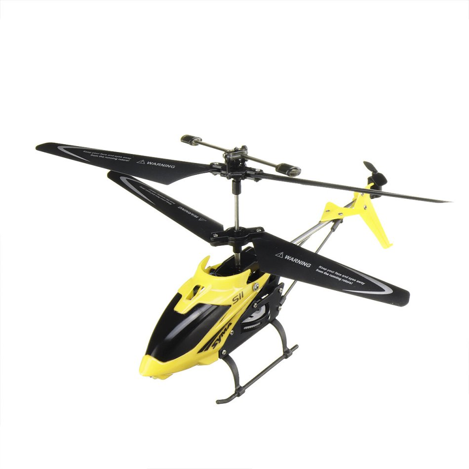 Syma S11 3CH Single-blade Electronic Gyroscope LED Light Omni-Directional Controls Alloy RC Helicopter RTF for Kids