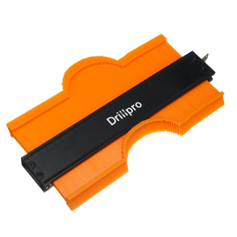 Drillpro 10 Inch Precise Contour Gauge Lockable Shape Duplicator Multifunctional Woodworking Profile Tool