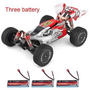 Στα 80€ με 3 μπαταρίες και από Τσεχία | Wltoys 144001 1/14 2.4G 4WD High Speed Racing RC Car Vehicle Models 60km/h Two Battery 7.4V 2600mAh – Three Battery Red