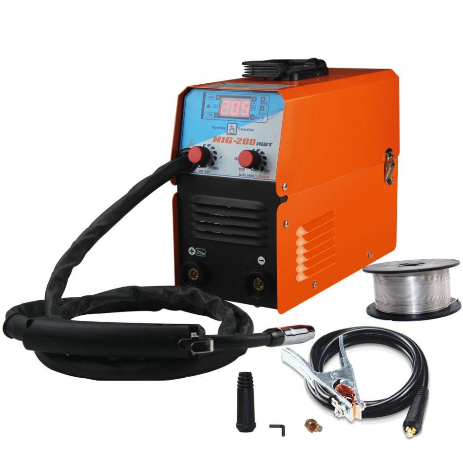 Mini MIG-200 AC220V IGBT MIG Welder MMA TIG 1 Phase Gasless Mini Welding Machine With Wire Welding Equipment