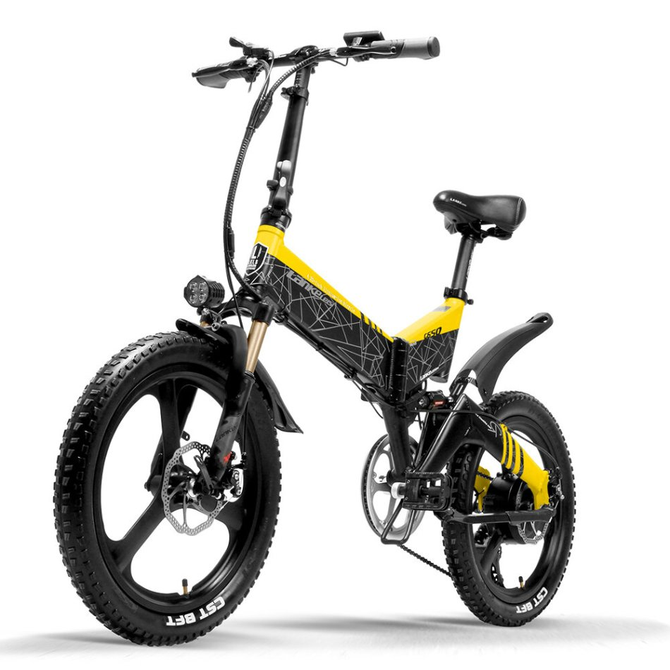 LANKELEISI G650 14.5Ah 48V 400W 20Inch Folding Moped Electric Bicycle 100Km Mileage Max Load 120kg With EU Plug Folding Bike