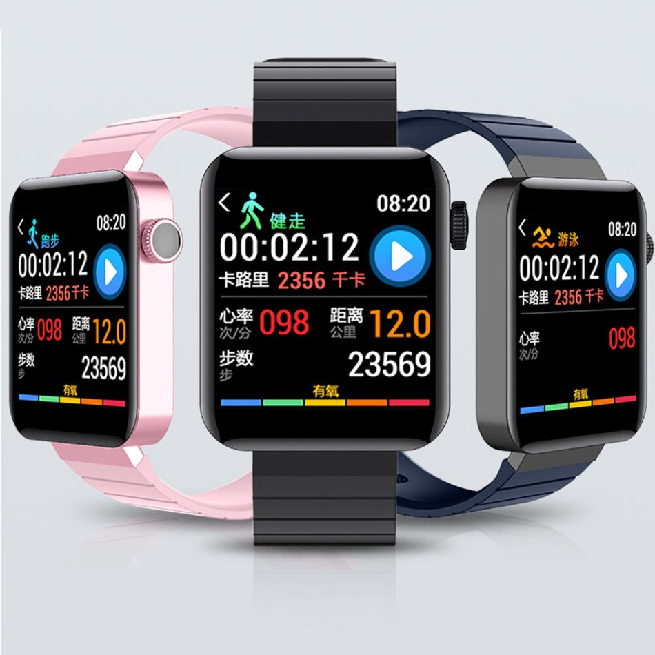 Bakeey M5 1.54 Inch Full Touch Color Screen Wristband Multi UI Display Blood Pressure Monitor Smart Watch