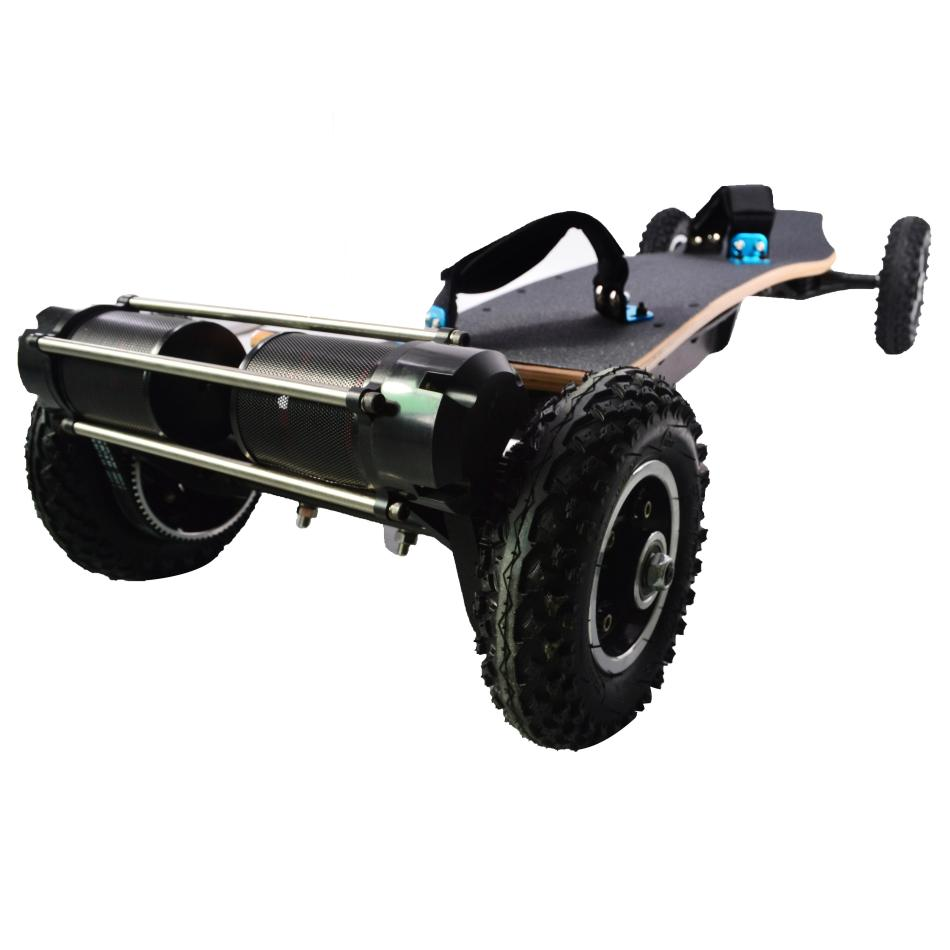 JKING H2C-01 2x1650W 36V 11AH 10S5P Brushless Motor Dual Belt Motor Off-road Skateboard 10000mAh Battery 4-wheel Electric Skateboard 200kg Payload 38km/h Top Speed
