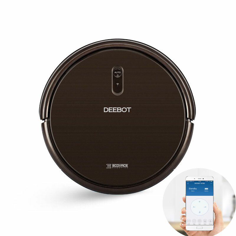 ECOVACS DEEBOT N79S Robot Vacuum Cleaner Auto & Manual Power Adjustment, 1000Pa Suction 2600mAh with APP Control