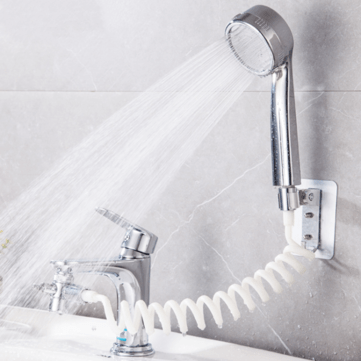 bathroom wash face basin water tap external shower head toilet hold filter flexible hair washing faucet rinser extension set faucet accessories