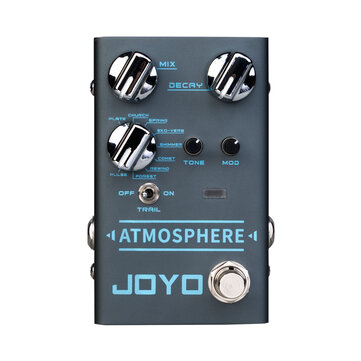 JOYO R-14 ATMOSPHERE Reverb Guitar Pedal SPRING/CHURCH/PLATE/EKO-VERB/SHIMMER/COMETS/REWIND/FOREST/PULSE 9 Digital Reverb Effect